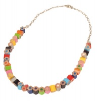Crayon necklace chopped bits